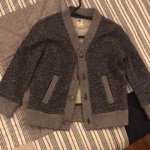 boys blue cardigan sweater